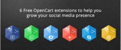 6 Free OpenCart extensions to help you grow your social media presence